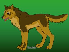 Djargo [own wolf character] by lilly-gerbil