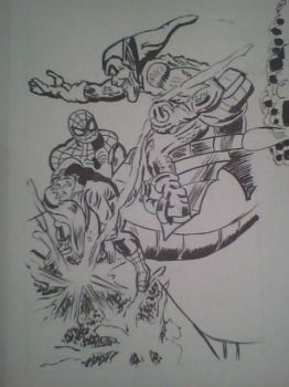 Amazing Spider-Man 122 Inked by SoulRipper85