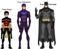 Dick Grayson's costumes by nhrynchuk