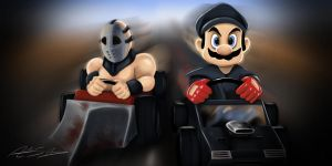 Mad Mario Kart by jokerproduct