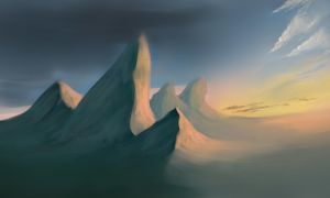 Mountains speedpaint 2 by akitary