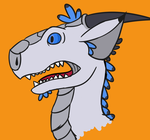 A Startled Silver Dragon (redraw) by TorpidTiger