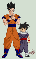 DBZ Gohan - Young and Old by BruinsQb
