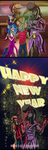 Happy New Year!!!!  Antro pony by UrhangrZerg