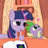 Twilight and Spike: Research by Poppun