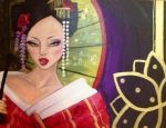 Geisha in Red by attitudechick