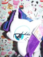 (MLP)OnlyFactory Rarity Plush (Right Side Face) by KrazyKari