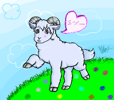 Missy the sheep by CrimsonEscapist