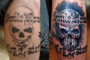 Cover-up. Skull by TimHag