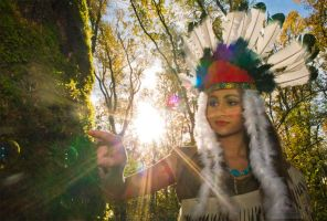 Pocahontas in the magical forest by chamellephoto