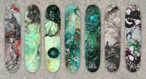 Organic Abstracts Custom Skatedeck Series by AKOrganicAbstracts