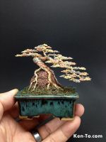 A large 3-color cascade wire bonsai tree by Ken To by KenToArt