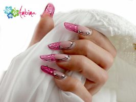 Pink Pipe Nails by Ambima