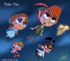 50 Chibis Disney : Peter Pan by princekido