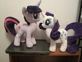 Rarity and twilight sparkle plush by Little-Broy-Peep