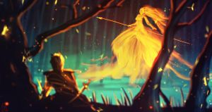 daily speedpaint 035 - kissed by fire by iDaisan