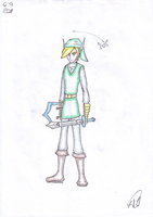 Link with Navi by KaeElBee