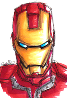 Messy Iron Man Bust by Hades-O-Bannon