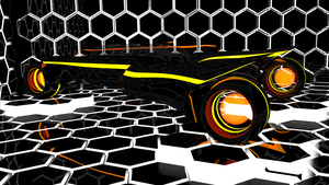 Tron Car 2 side view by Mikey-Spillers