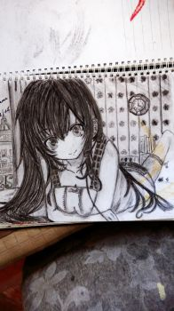 a drawing I did last year  by shiviumeshh