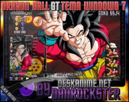 Goku SSJ4 Theme Windows 7 by Danrockster