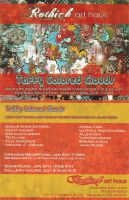 """Taffy Colored Clouds"" flyer by ArtByAlexChiu"