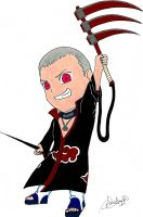 Chibi Hidan by HappyFridge
