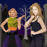 Buffy and Buffy by DoctorRy