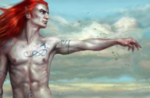 The Woad Blue Sky by quickreaver