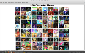 100 cartoon character meme by samvadar