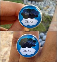The fault in our star okay okay ring by Saloscraftshop