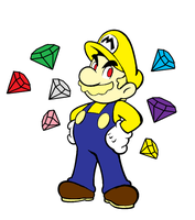 STH Super form Mario by Mongoosquilax