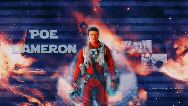 Poe Dameron wallpaper01 by HappinessIsMusic