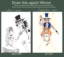 Draw this again: Alice and Hatter by kostinanya