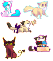 Kittybliiss Chibi Batch //PC by rizusaur