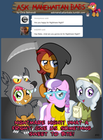 Ask Manehattan Babs #43 by wildtiel