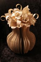 Large Flower Vase Book Sculpture by wetcanvas