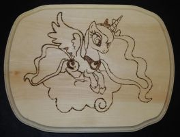 Princess Luna Wood Burning - WIP by rekibob