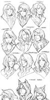 Soume's expressions by Razuri-the-Sleepless