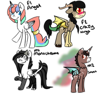 DiscordXCelestia : Adoptables : 20 points Each by ThePotato-Queen
