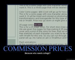 Commission Prices DeM Poster by AlterationA