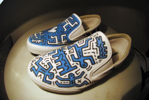 Keith Haring slip on by anjinho