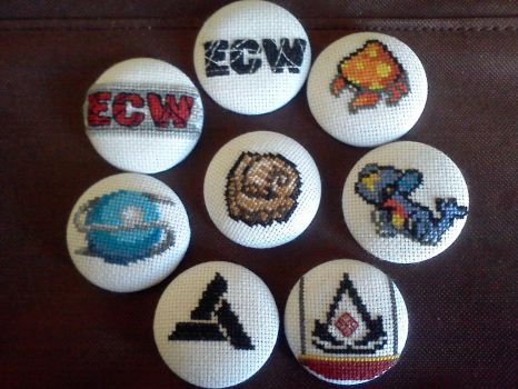 Cross Stitched Buttons by CaptStaccato