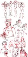 Sketchdump 01 by HeatherHitchman
