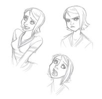 OP Disney: Nami sketches by persephohi