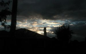 Dramatic sky and silhouettes by postaldude66