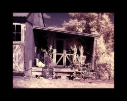Old Back Porch IR by GeneAut