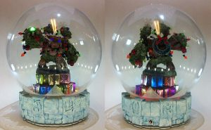 Christmas Tree Rex Waterless Snow Globe by crimsonprinny
