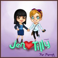 Jen and Tilly Hollyoaks chibi Fanart by cgtang