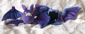 Crobat and Golbat plush by PlushOwl